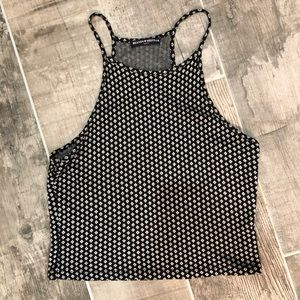 Patterned black and white tank